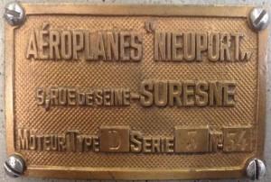 Nieuport plaque
